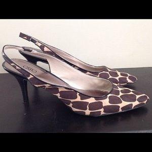 Cato heels giraffe print NEW sz 11